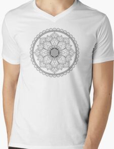 Sacred Geometry: Flower Of Life Mandala I Mens V-Neck T-Shirt