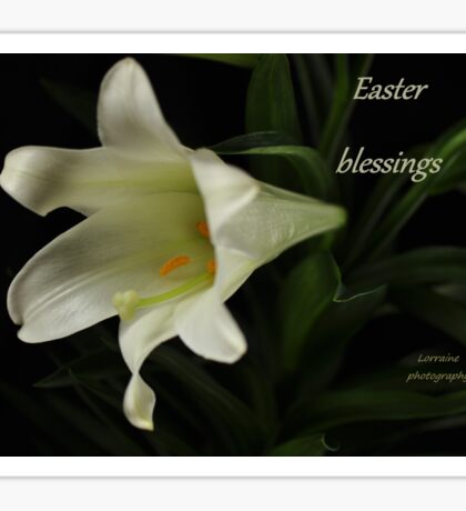 Easter Blessings Sticker