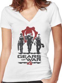 Gears Of War 4 Women's Fitted V-Neck T-Shirt