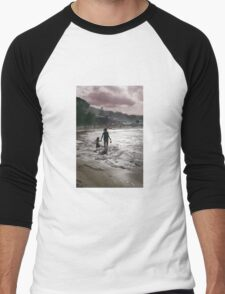 Late Afternoon on Lorne Beach Men's Baseball ¾ T-Shirt