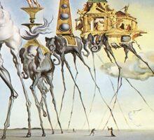 Salvador Dali - Elephants Sticker
