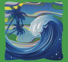 Sea Ocean big Wave Water  One Piece - Short Sleeve