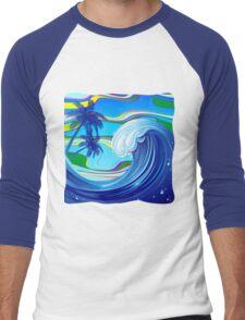 Sea Ocean big Wave Water  Men's Baseball ¾ T-Shirt
