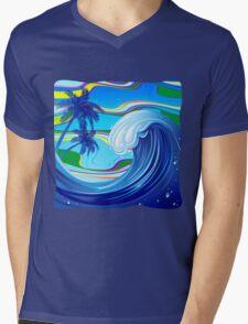 Sea Ocean big Wave Water  Mens V-Neck T-Shirt