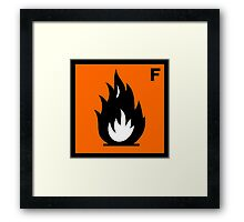 Flammable Symbol Framed Print