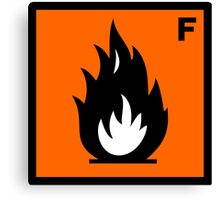 Flammable Symbol Canvas Print