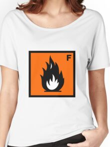 Flammable Symbol Women's Relaxed Fit T-Shirt