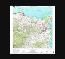 USGS TOPO Map Puerto Rico PR Fajardo 362416 1962 20000 Unisex T-Shirt