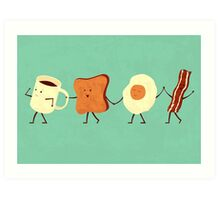 Let's All Go And Have Breakfast Art Print