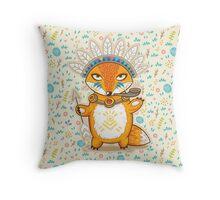 Indian fox Throw Pillow