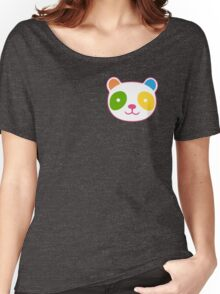 Cute Rainbow Panda Women's Relaxed Fit T-Shirt