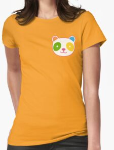 Cute Rainbow Panda Womens Fitted T-Shirt