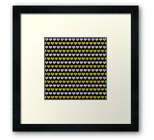 Silver and Gold Hearts Pattern Framed Print