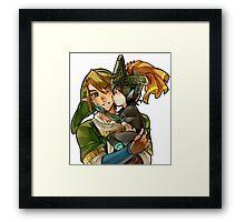 Zelda Midna and Link Framed Print