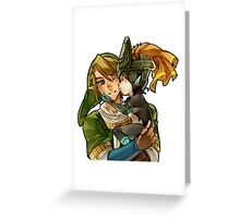 Zelda Midna and Link Greeting Card