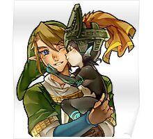Zelda Midna and Link Poster
