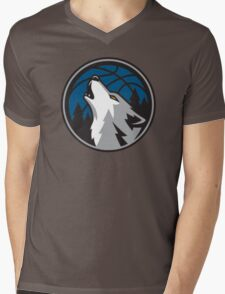timberwolves Mens V-Neck T-Shirt