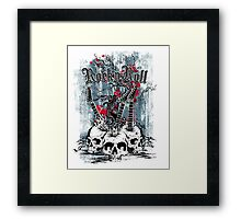 Skull - Rock and Roll Framed Print