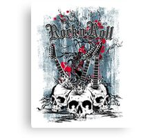 Skull - Rock and Roll Canvas Print