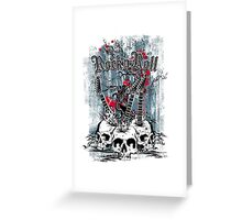 Skull - Rock and Roll Greeting Card
