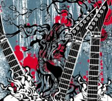 Skull - Rock and Roll Sticker