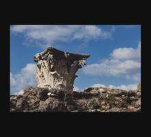 Ancient Pompeii Broken Treasures - Classical Corinthian Column Capital Left  Baby Tee