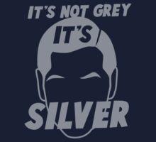 It's not GREY it's SILVER Kids Tee