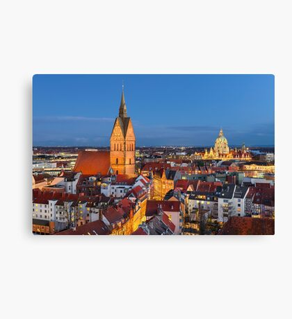 Old City of Hannover, Germany Canvas Print