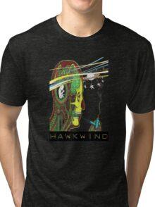 Hawkwind Merry Go Head Tri-blend T-Shirt