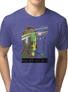Hawkwind Merry Go Head Tri-blend T-Shirt