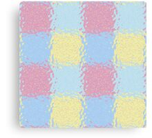 Pastel Jiggly Tile Pattern Canvas Print