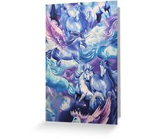 Unicorn Painting Design For All kind Of stuffs Greeting Card