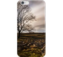 Lone Tree On Lime iPhone Case/Skin