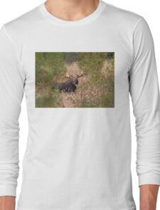 Moose in rut - Algonquin Park, Canada Long Sleeve T-Shirt