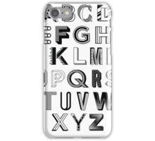 Monotype Alphabet iPhone Case/Skin