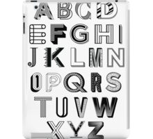 Monotype Alphabet iPad Case/Skin