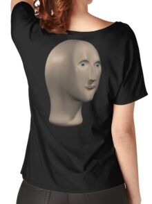 meme man on back Women's Relaxed Fit T-Shirt
