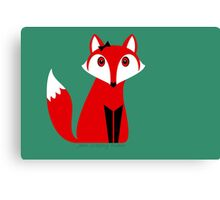 FOX WITH HAIR BOW Canvas Print
