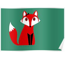 FOX WITH HAIR BOW Poster