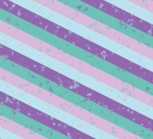 Pastel Diagonal Stripe Pattern Sticker