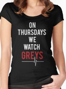 on thursdays we watch greys Women's Fitted Scoop T-Shirt