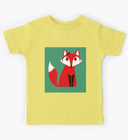 FOX WITH HAIR BOW Kids Tee