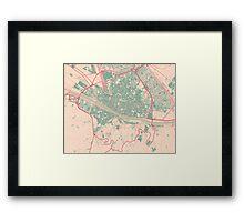 Firenze Map (Springtime) Framed Print