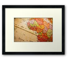 North Africa map Framed Print