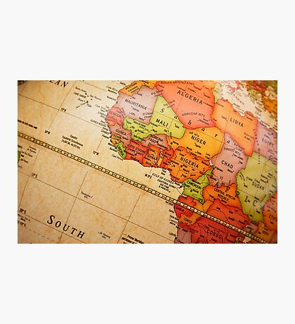 North Africa map Photographic Print