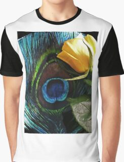 Peacock's Rose Graphic T-Shirt