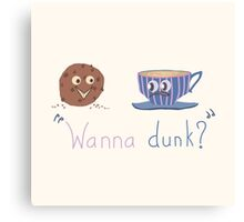 Wanna dunk? Canvas Print
