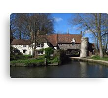 Pulls Ferry, Norwich  Canvas Print