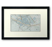 Firenze Map (Winter) Framed Print
