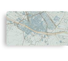 Firenze Map (Winter) Canvas Print